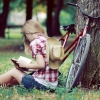 Blonde-Girl-Summer-Park-Bicycle